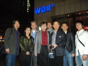 WDRの前で